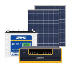 LUMINOUS 1600VA + 100AH BATTERY x 2NOS + 625W PV PANEL SOLAR INVERTER COMBO