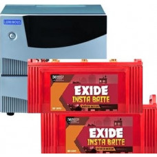 LUMINOUS CRUZE 2000VA (24V) + 2 x EXIDE INSTABRITE IB1000 100AH TUBULAR BATTERY