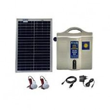 SOLAR DC HOME LIGHTING SYSTEM 2 LIGHTS 5W LED WITH 12V 7AH BATTERY & 25W PANEL