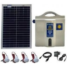 SOLAR DC HOME LIGHTING SYSTEM  4LIGHTS 7W LED WITH 12V 14AH BATTERY & 50W PANEL
