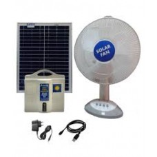 SOLAR DC HOME LIGHTING SYSTEM 1 LIGHT  5W LED WITH 12V 14AH BATTERY 75W PANEL & 15W TABLE FAN