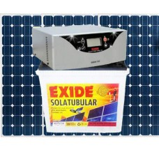 EXIDE SOLAR INVERTER COMBO (900VA INVERTER + 100AH BATTERY + 150WP PV PANEL)