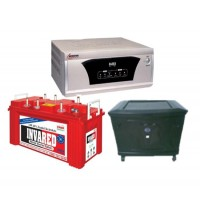 MICROTEK SEBZ 1100VA (12V) + EXIDE INVARED IR100 (100AH) TUBULAR BATTERY + TROLLEY