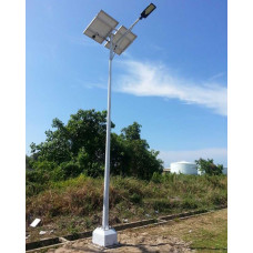 SOLAR STREET LIGHTING SYSTEMS  - DOUBLE ARM 24W LED