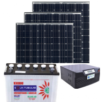 PROMPT 1050VA + 150AH BATTERY + 300W PV PANEL SOLAR  INVERTER COMBO