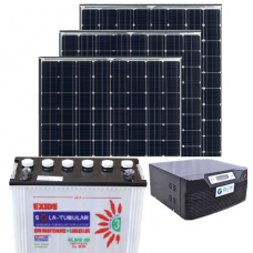 PROMPT 1050VA + 100AH BATTERY + 300W PV PANEL SOLAR  INVERTER COMBO