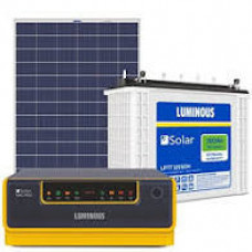 SOLAR LUMINOUS 750VA INVERTER + 100AH BATTERY + 150W PANEL